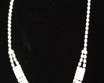 Crystal Choker Silver Rhinestone Necklace