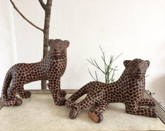 1 Mexican folk art Jaguar from Chiapas - Pottery