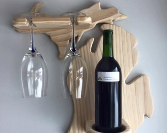 State Shaped Wine Holder