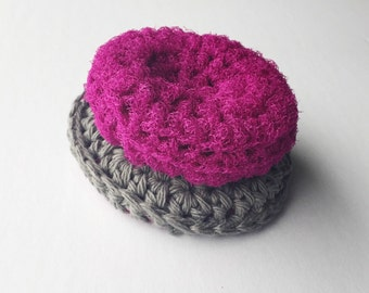 Crocheted Kitchen Scrubbies - Set of 2