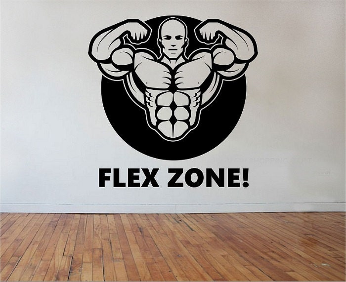 fitness gym wall decal flex zone sticker art decor bedroom design mural sports lifestyle work out - Sports Wall Stickers For Bedrooms
