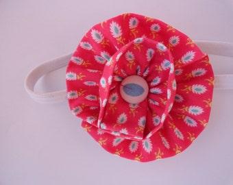 Fabric Flower Elastic Headband