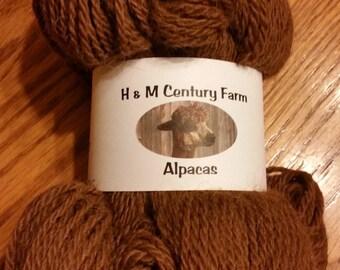 Alpaca Yarn - Worsted Weight Chocolate Brown