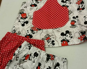 Handmade Mickey mouse crossover dress. 0-3 months.