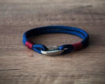 Sailor Bracelet men-Women, jewelry for men women, midnight blue-burgundy nautical bracelet, Christmas gift, bracelet for her and him