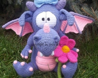 pet dragon, crochet pattern by mala designs ®