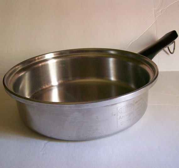 Vintage Amway Queen Stainless Steel Skillet Frying Pan