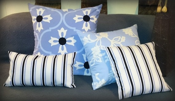 Cotton Sateen Decorative Pillow Covers For Sofa, Bed or Guest Bedroom Choice of Pattern & Sizes Available