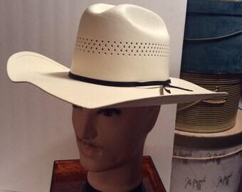 50% Off Sale Vintage Laredo Cowboy Canvas Western Cowboy Hat