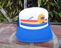 Vintage Mesh Trucker Hat-Beach Mesh Hat-70s Mesh Hat -Trucker Hat