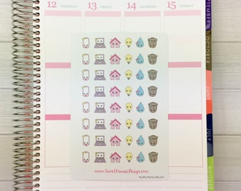 Itty Bitty Kawaii Monthly Bill Icons Stickers (new)