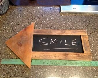 Distressed Wooden Arrow Chalkboard Sign