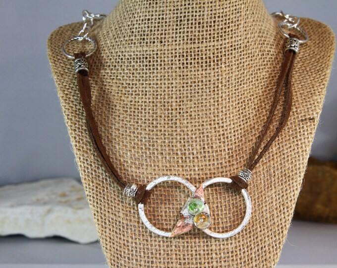 Handwrought Silver rings necklace
