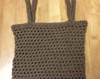 Large Hand Crocheted Mesh Market Bag