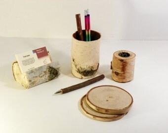 Birch Desk Set