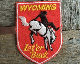Wyoming Vintage Souvenir Travel Patch from Voyager - New In Original Package
