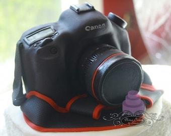 Canon Camera cake topper / Styrofoam Cake / Fathers Day / Photographer / Mothers Day / Birthday Cake / Paparazzi / Professional Camera Nikon