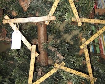 Vintage Wooden Ruler Star