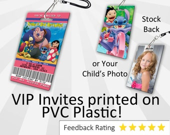 Lilo and Stitch Invitation, PLASTIC!!!, Lilo and Stitch Birthday Invite, Birthday Invitation Photo Invitation, Personalized, Lilo and Stitch