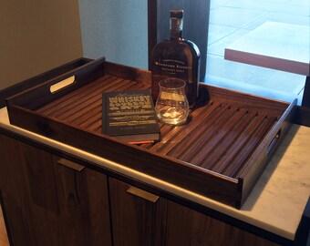 Wally's Serving Tray - Handmade Tray, Handmade Serving Tray, Walnut Tray, Classic Tray, Home Decor, Classic Serving Tray