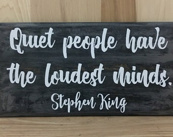 Stephen King wood sign quote, inspirational quote, custom wooden sign, book lover gift,  positive quote, inspirational wall art
