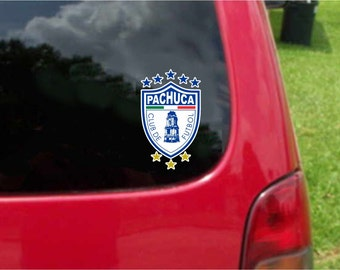 2 Pieces Pachuca Tuzos Futbol Mexico  Decals Stickers Full Color/Weather Proof. U.S.A Free Shipping