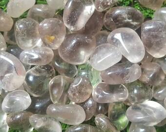 Smoky quartz crystal tumblestone