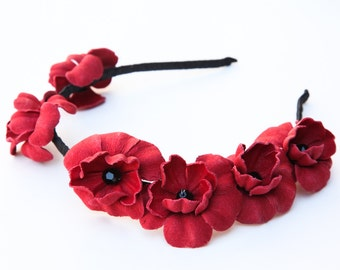 Poppy Scattered Flower Headband