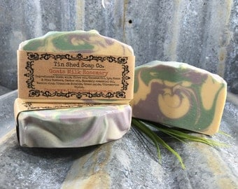 Goats Milk Rosemary Handmade Soap with Shea & Cocoa Butters. Made in Australia.