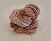 Merino Handspun Thick and Thin Yarn Blanket Photo prop - 4 oz - Brown Fawn  Yarn- newborn Basket filler