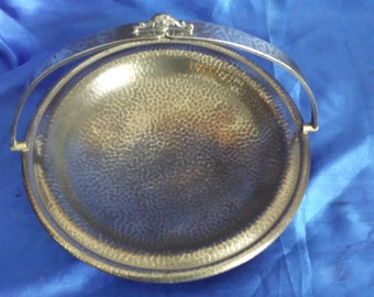 Vintage 1930s + Civic Pewter Footed Bowl With Handle