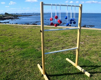 how to make a wooden ladder ball game