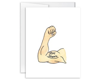 Sympathy Card - Cancer Card - Thinking of You Card - Encouragement Card - Stay Strong Card - Greeting Card - You Are Loved Card - 141101