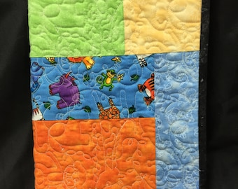 Composition Book Cover- Jungle themed Quilted Journal Cover- 100% Cotton Fabric