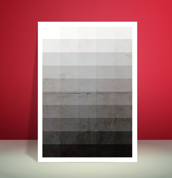 Fifty Shades Of Grey // Minimalist Art print // Unique A4 / A3 Art Print