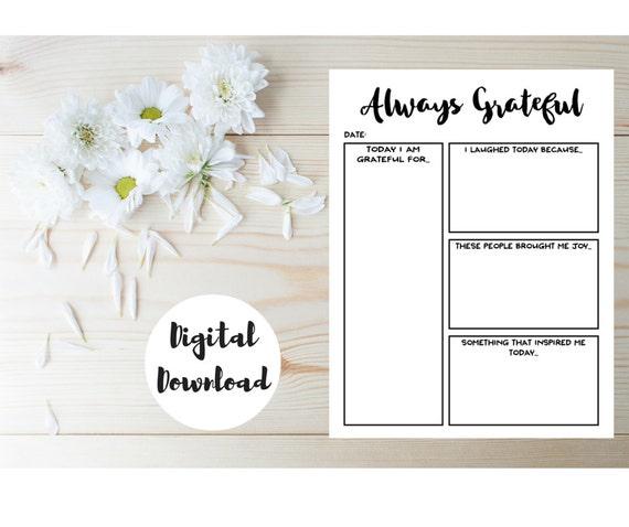 Daily Planner Insert Gratitude Journal Printable Day – Gratitude List Worksheet