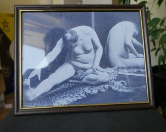 Aleister Crowley   Asana   Reproduction Photograph in Old Frame