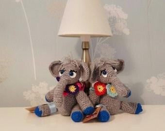 Amigurumi soft toy elephant