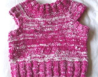 Toddler Vest in Handspun and Hand dyed Merino Wool