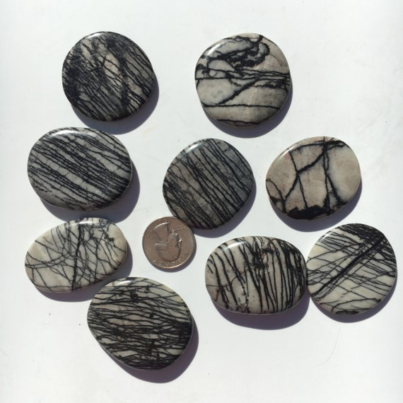 Beautiful Tumbled NET JASPER Healing Gemstone/ Spider Web Jasper Pillows// Tumbled Stones/ Polished Jasper// Healing Crystals/ Healing Tools