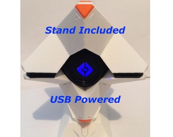 Large Ghost 3D Print with USB powered LED - Stand Included