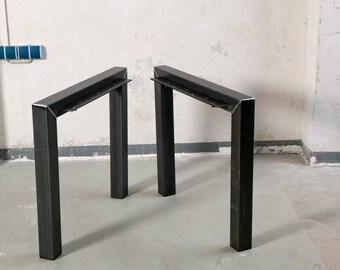 Legs of raw steel, simple and elegant.