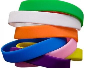 Rubber bracelets * Rubber wristbands * Silicone wristband * silicone band * silicone bracelet * Friendship bracelet
