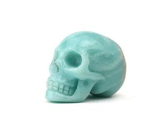 "Amazonite Carved Skull 2"" | 1 piece"