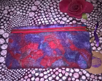 Textured Nuno Felted Purse/Pouch