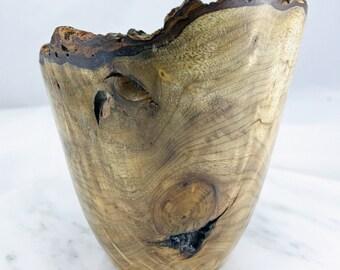 Natural Edge Myrtle Burl Vase - Item 1081