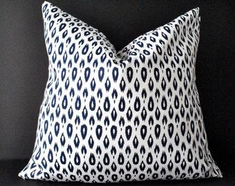 Throw pillow covers, Cushion, pillow case, Pillow, Navy pillow cover, Cushion Cover, 20x20 Pillow Cover, white blue pillow