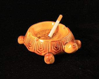 Turtle Ashtray Vintage Ceramic Turtle Ashtray, Columbus Zoo, Ohio, Smoker, Cigarettes, Tobacco