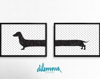 Dog print, Dachshund Dog Print, Dog wall decor, Nursery wall decor, Pet print, Puppy Nursery decor, Nursery wall art, Puppy wall decor