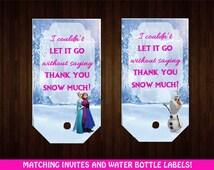 Frozen Favor Tags / Frozen Lolly Bag Tags